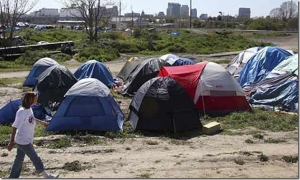 Homeless encampment USA