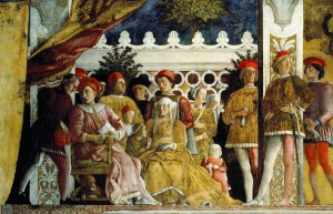 Renaissance Court_of_Mantua_-_detail