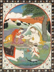 Shiva, Parvati and Ganesh with Bhang