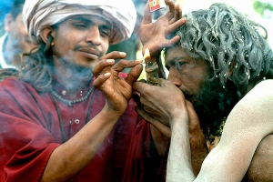 Shivaites with Chillum