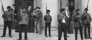 Black Panthers protest against CA gun laws